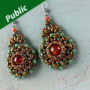 kashmir earrings